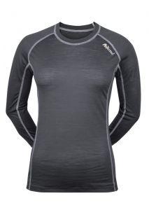 Zobraziť detail - Dámské Merino tričko šedá/ biela