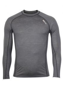 Zobraziť detail - Pánské Merino tričko šedá/ čierna