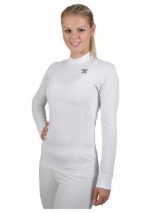 Biele coolmax tričko s dlhým rukávom
