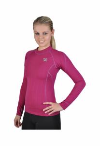 Ružove coolmax triko s dlhým rukávom