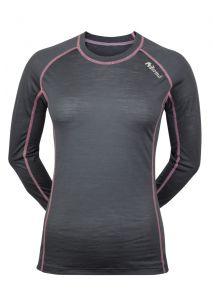Dámské Merino tričko šedá/ ružová
