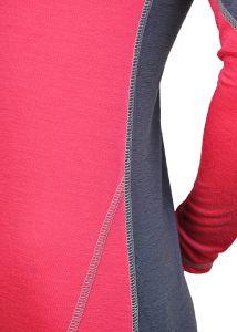 Merino dámské triko - detail plochý šev