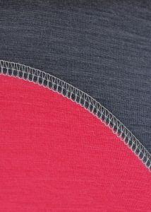 Dámske funkčné Merino tričko sivá/ružová vhodné na zimné športy MeTermo-Libor Macek