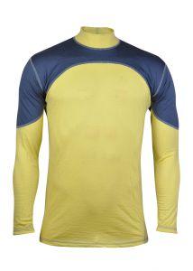 Merino tričko sivá/žltá
