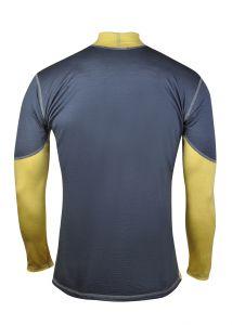 Pánske funkčné Merino tričko sivá/žltá vhodné na zimné športy MeTermo-Libor Macek